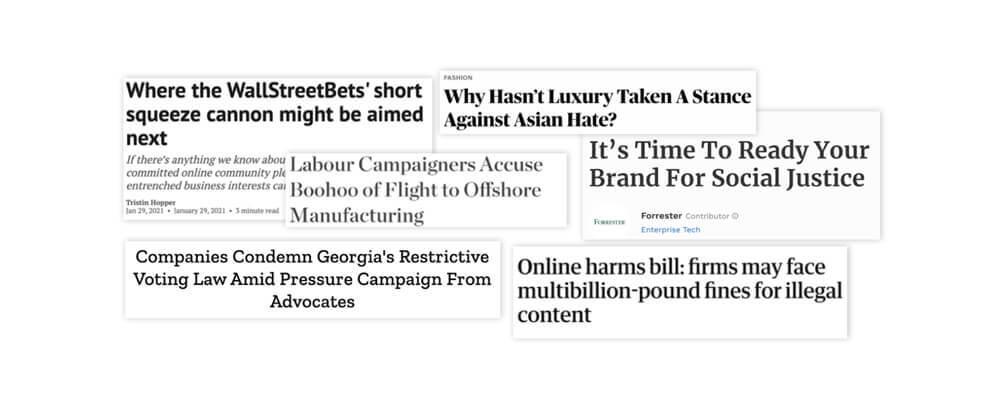 Headlines impacting communications leaders